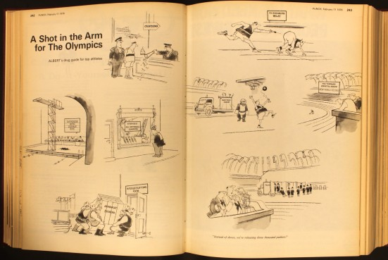 Punch Olympics cartoons 1976