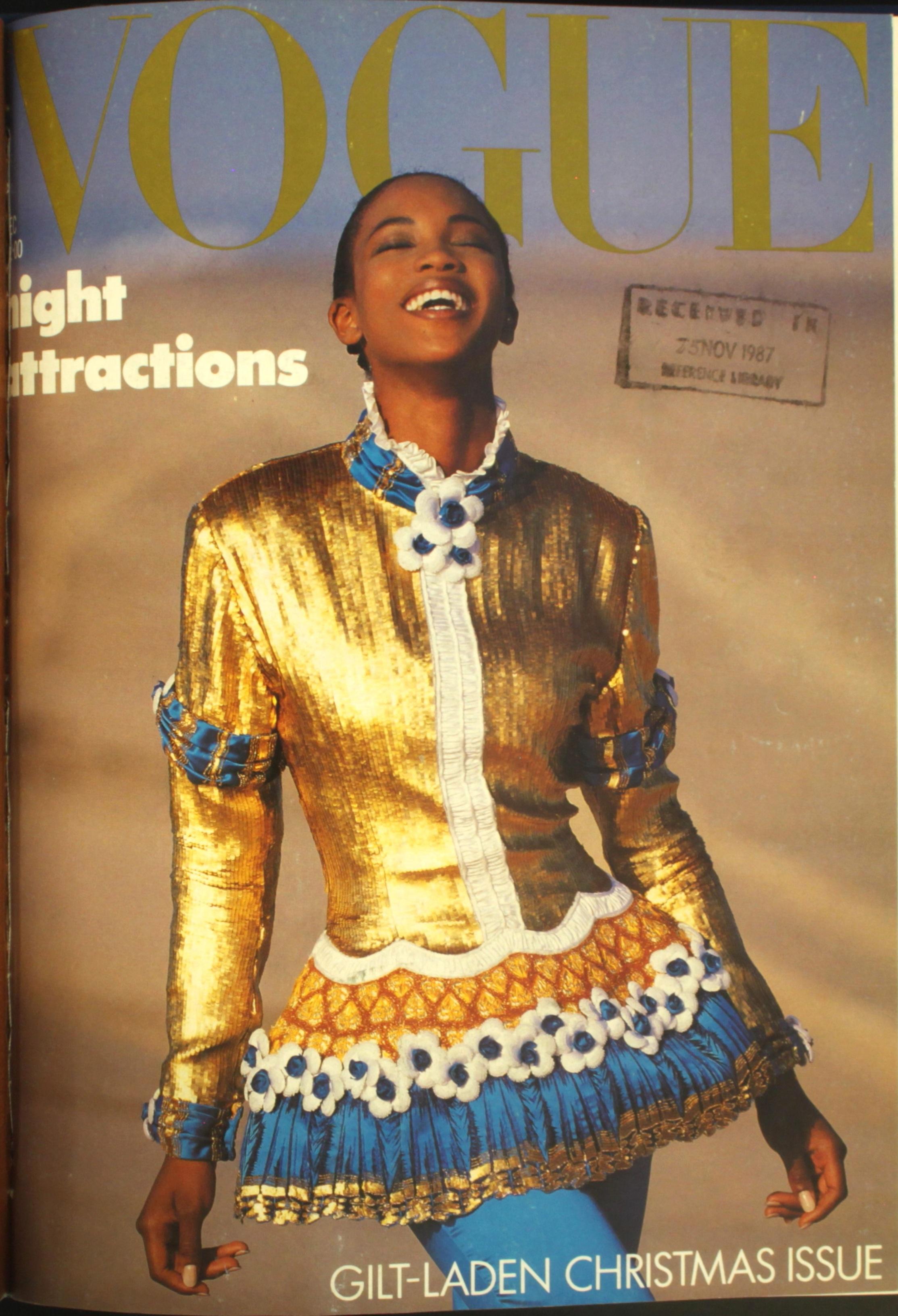Naomi Campbell Vogue 1987