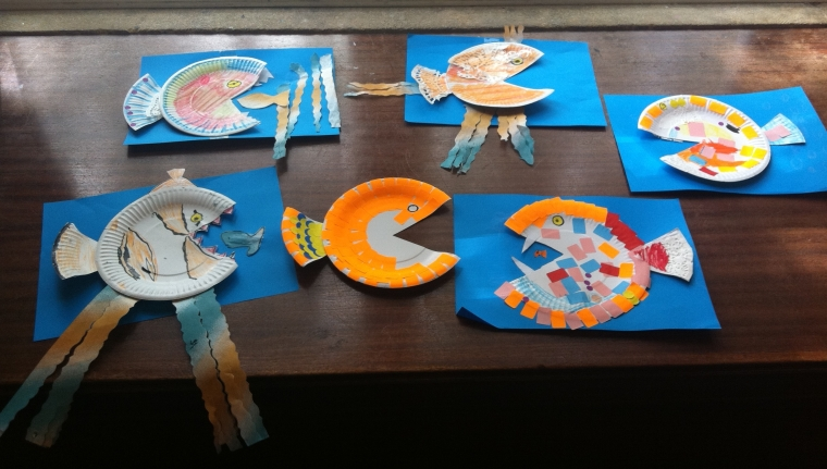 Craft day fun for the Summer Reading Challenge!