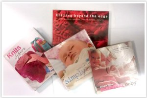 Collection of knitting books