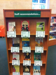 Staff suggestions display at Kensington Central Library in November 2012