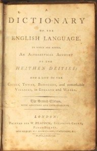 Dictionary of the English Language - 1788