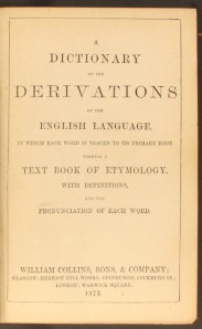 Dictionary of Derivations - 1872