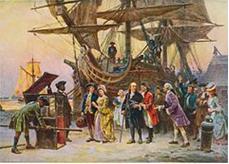 Benjamin Franklin visiting London, 1785