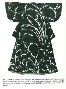Black and White Kimono