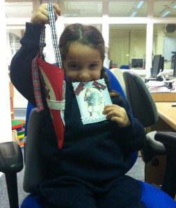 A Happy Young Reader With Her Victorian Christmas Crafts!