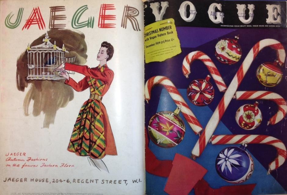 Christmas Vogue Magazine cover 1939