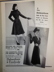 Fur sale at Debenham and Freebody