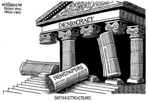 Ed Stein cartoon 'Infrastructure' Photo: Ed STein '08 Rocky Mtn News NEA