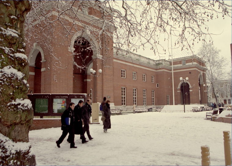 Kensington Central Library in winter