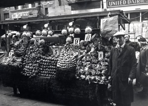 Mr Brooks' vegetable stall, 1958
