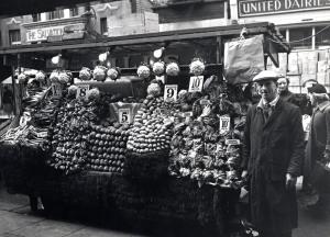 Mr Brooks' vegetable stall, 1958