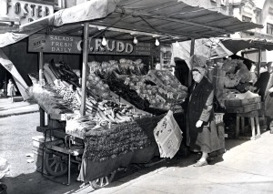 Mrs Rudd's salad stall, 1958