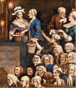 Theatre goers: 'The laughing audience' Edward Matthew Ward, 1785