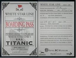 Boarding Pass for the Titanic