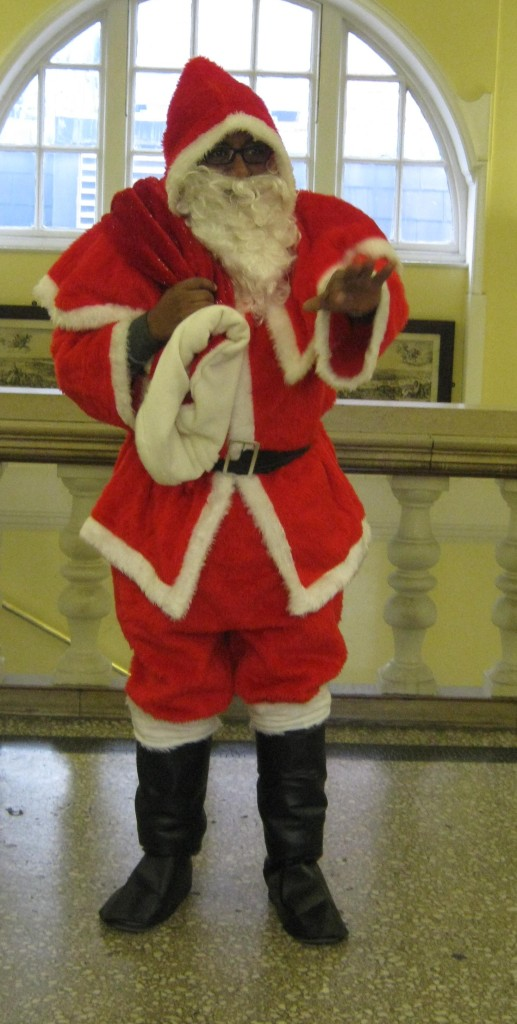 Huiry as Father Christmas