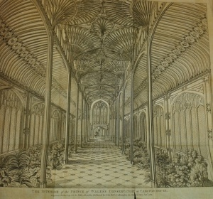 Interior of the Prince of Wales' conservatory, Carlton House (September 1811)