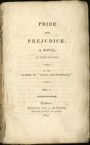 Pride and Prejudice title page