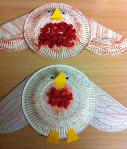 Paper plate robins!