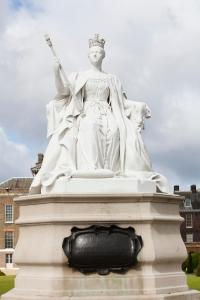 Statue of Queen Victoria outside Kensington Palace, sculpted by her daughter Princess Louise