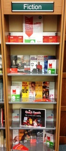 Six Book Challenge display at Notting Hill Gate Library