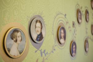Queen Victoria and Prince Albert's portraits on display at Kensington Palace