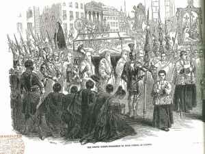 Festival of Corpus Christi in Madrid, 3 April 1847