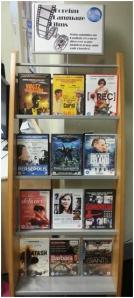 DVDs on display at Brompton Library