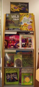 Spring books on display