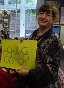 Zvezdana with her dodecahedron!