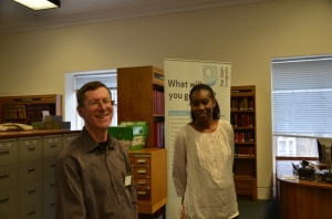 Two of the very helpful members of staff from The Open University
