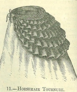 Horsehair tournure from 'Englishwoman's Domestic Magazine' 1869