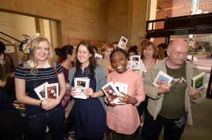Some very happy readers with their new books.