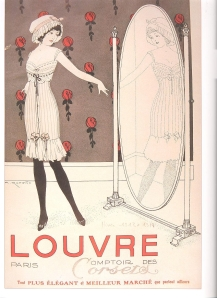 An advert from 'The Story of Women's Underwear' by Barbier and Boucher