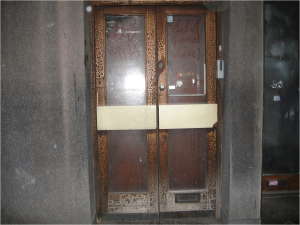 The former entrance to Kingsway telephone exchange