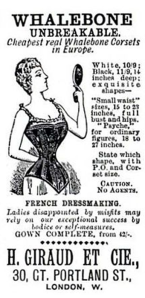 Corset advert from Giraud Company