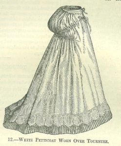 Petticoat worn over a tonure from 'Englishwoman's Domestic Magazine' 1869