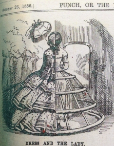 Crinoline cartoon in Punch, 1856