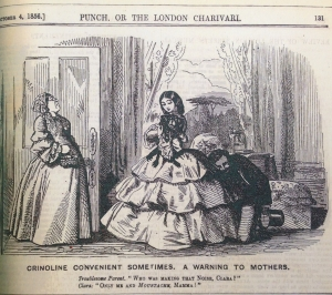 Another crinoline cartoon in Punch, 1856