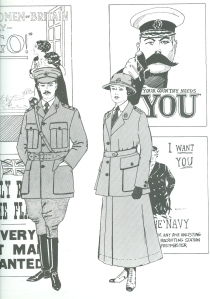 Wartime dress image from 'Changing Trends in Fashion' by Anne Tyrell