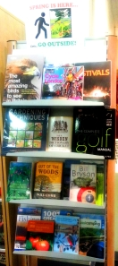 'Go Outside' book display