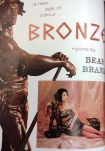 Bronze nylons by Bear Brand
