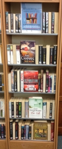Crime fiction display at Notting Hill Gate Library