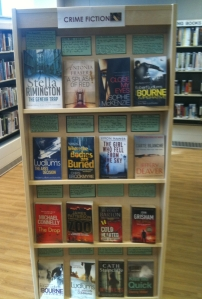 Crime fiction on display at Kensal Library