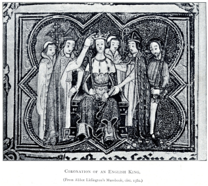 William the Conqueror being crowned on Christmas Day 1066