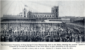 The Coronation Procession of King George IV from Westminster Hall to the Abbey