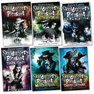 Skulduggery Pleasant series by Derek Landy