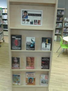 Malorie Blackman display at Kensal Library