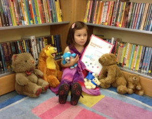 Notting Hill Gate Library's first Bookstart Bear Club completer!