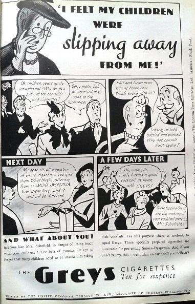 Greys cigarettes advert